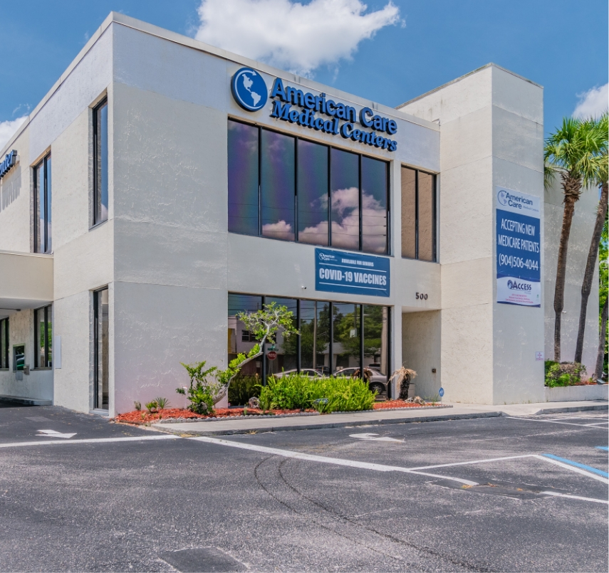 Exterior of the American Care Jacksonville North West Medical Center.